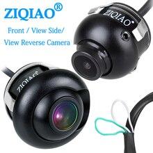 ZIQIAO ön yan görünüm ters kamera 360 ° döndürme HD gece görüş su geçirmez araba dikiz park kamerası