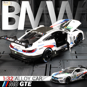 1:32 Scale/Diecast Metal Toy Model/2018 M8 GTE Le Mans/Sound & Light Racing Car/Pull back Educational Collection(China)