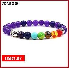 2PCS/Set Silver Color Buddha Head Lava Skeleton Turquoises Natural Stone Beads For Women Men Bracelet Set Charm Bangles BH89