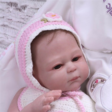 20'' Full Body Vinyl Silicone Reborn Girl Baby Dolls Newborn Touch Real Bath Toy  Interactive Dolls  Fashion Doll  Educational wmdoll top quality silicone sex doll head for real human dolls real doll adult oral sex toy for men
