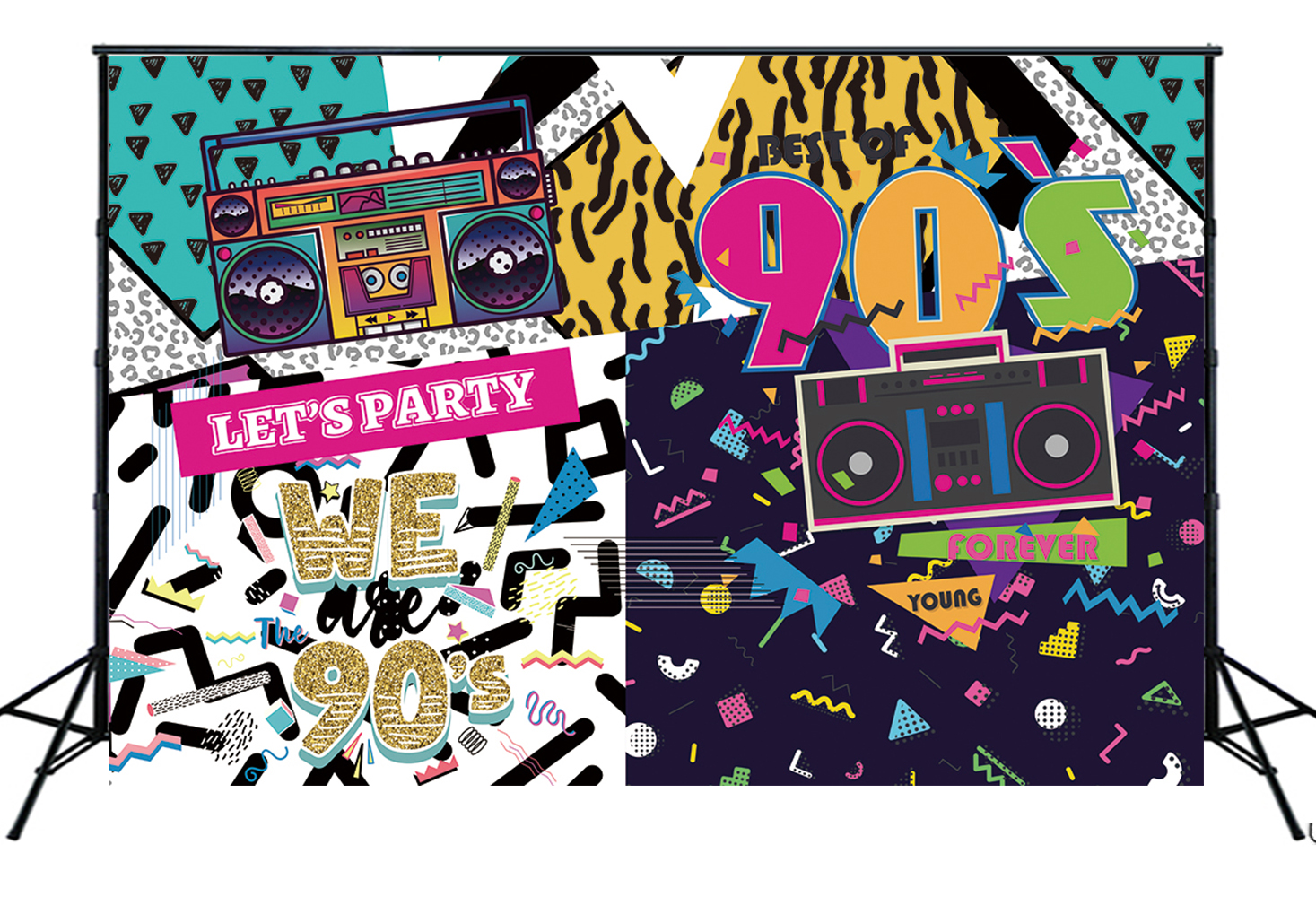 The 90s Themed Party Photo Backdrop Hip Hop Rock Music Graffiti Wall Background Birthday Decorations Photo Booth Banner W 2189 Background Aliexpress