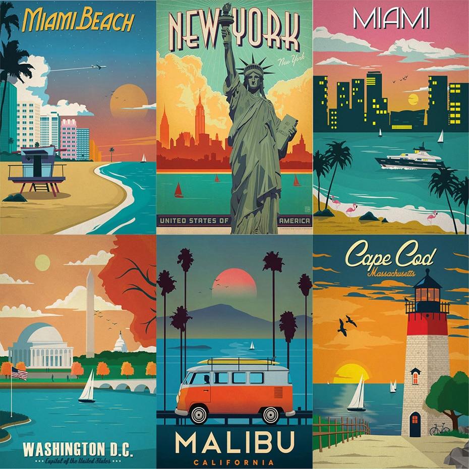 Peinture à lhuile acrylique par numéros sur toile, paysage de villes deurope, de londres, des pays-bas et des états-unis, peint à la main