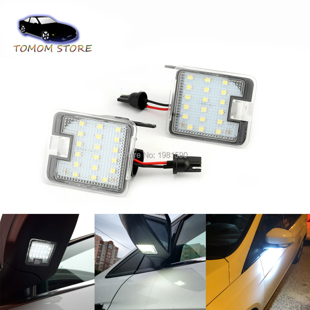 Ghost Shadow LED Side Rear View Mirror Puddle Light For Ford Focus Edge Mondeo
