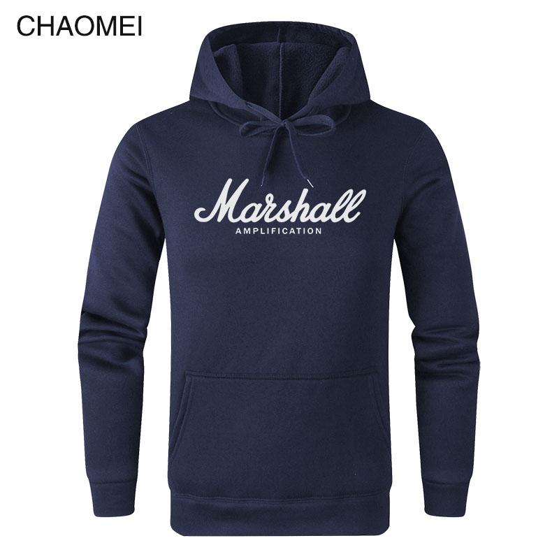 2019 New Spring Autumn Marshall Hoodie Men Amplification Hoodies Mens Slim Hooded Sweatshirt Hip Hop Brand Streetwear C122