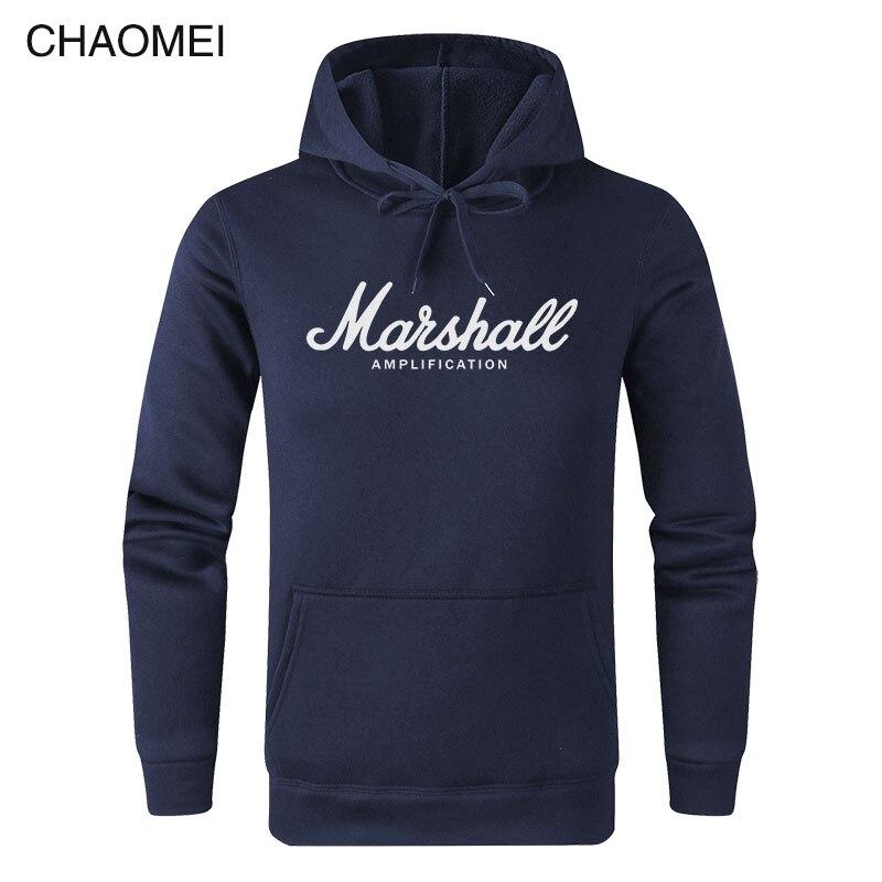 2019 New Spring Autumn Marshall Hoodie Men Amplification Hoodies Mens Slim Hooded Sweatshirt Hip Hop Brand Streetwear C122