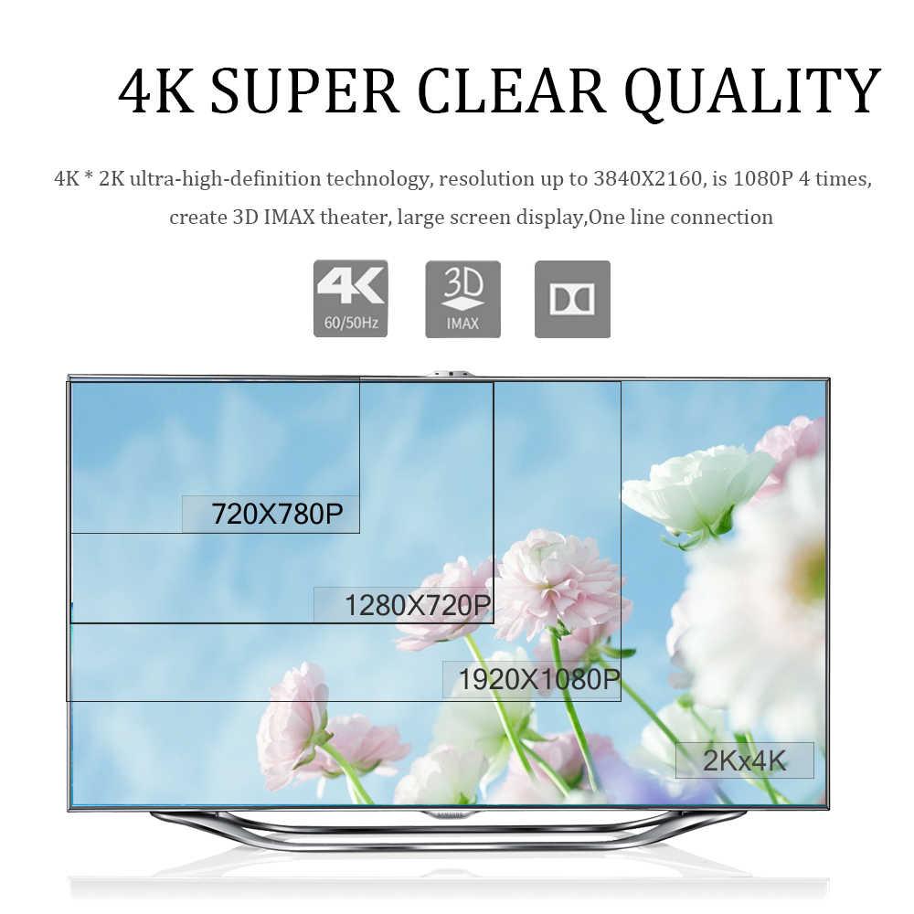 สาย HDMI Splitter สวิทช์ 4K * 2K 60Hz สาย HIGH SPEED HDMI Extender สำหรับโปรเจคเตอร์คอมพิวเตอร์แล็ปท็อป PS4 วิดีโอ Cabo สาย HDMI