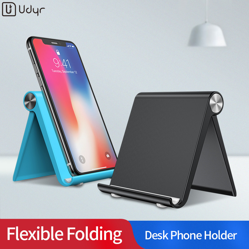 Udyr Phone Holder Stand For IPhone Desk Cell Phone Holder Foldable Mobile Phone Stand For Samsung Desk Phone Holder For Huawei