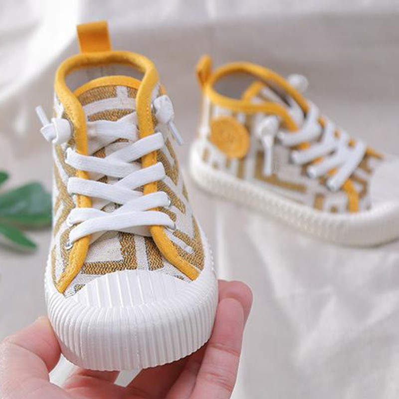 Children's 3 Colour Cotton Sneakers Kids Stylish Casual Shoes