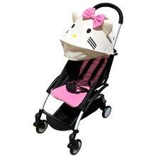 Arabası aksesuarları için Babyzen Yoyo 165 Yoya güneş gölge kapak + koltuğu bebek Pram astar yastık pedi arabaları güneşlik gölgelik Hood