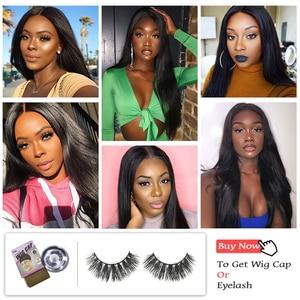 "Image 4 - Ali Queen Hair Brazilian Straight Raw Virgin Hair Bundles Natural Black Color 6"" to 38"" 100% Unprocesse Human Hair Weaving"