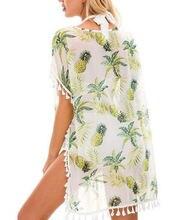 Goocheer 2019 женская накидка на бикини платье саронг купальник