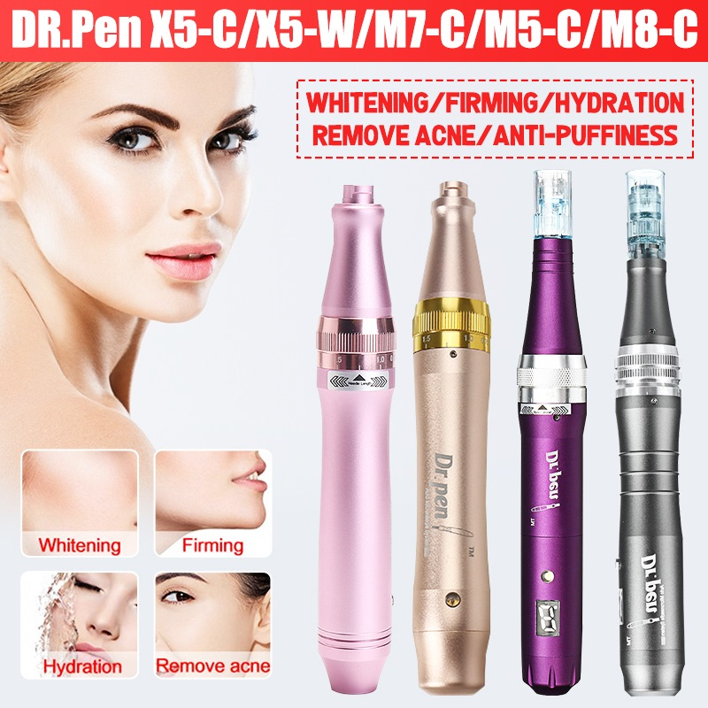 Dr.<font><b>Pen</b></font> X5-C/X5-W/M5-C/M7-C/M8-C Micro Port Prot Needle Box Equipment Wired Electric Wrinkles Marks Removal Device Skin image