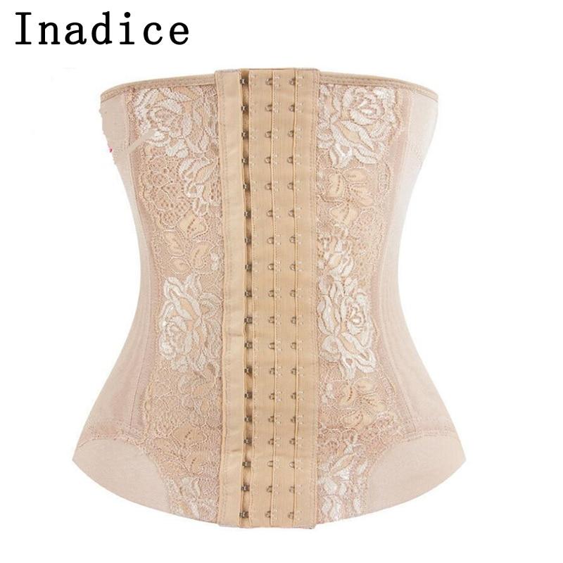 Inadice Women Cummerbunds Clothes Floral Corset Belt Polyester Women Belt Elegant Lose Weight Slimming Belt  Mesh Elastic Belt