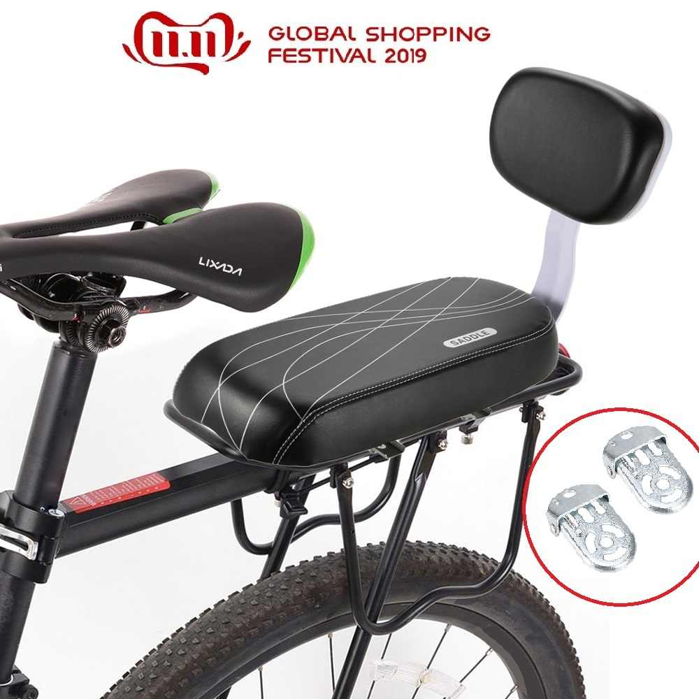 MTB PU Leather Bicycle Back Seat Soft Cushion Rear Rack Seat Cycling Bike Bicycle Children Seat Back Rest Bicycle Back Seat