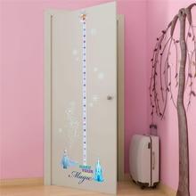 frozen princess height measure wall decals bedroom home decor disney cartoon growth chart stickers pvc mural art