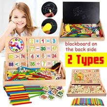 Drewniane matematyka zabawki matematyka nauczanie pudełko zegar zabawka matematyczna Montessori Box dzieci wczesne nauczanie matematyka zabawki edukacyjne prezenty tanie tanio JJRC Drewna CN (pochodzenie) SKUD89263 3 lat Unisex Keep away from fire NONE 19 4x3 9x18 5cm 7 64 x1 54 x7 28 Blackboard