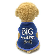 Pet Dog Clothes For Small Dogs BIG Brother Letter Shirt Painting Polar Puppy Coat Pets Cat Warm Clothes Autumn Winter Pet XS-XL(China)