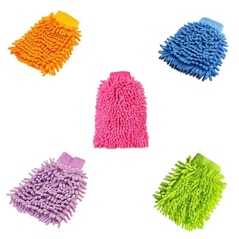 1 PC Tahan Lama Microfiber Mobil Jendela Cuci Pembersih Kain Kain Lap Handuk Gloves Mencuci Cleaning Anti Gores Mesin Cuci Mobil