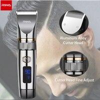 RIWA tagliacapelli tagliacapelli elettrico professionale con schermo a LED ricaricabile ricaricabile Set completo di capelli macchina per capelli