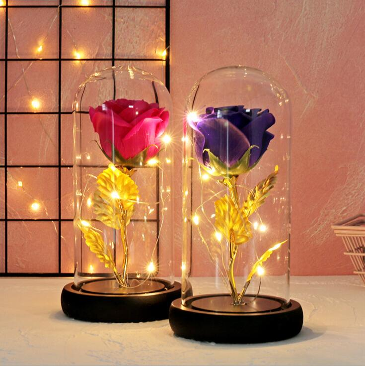 Simulated Flower Star Nightlight Birthday Gift Festival Gift Fashion Home Decoration