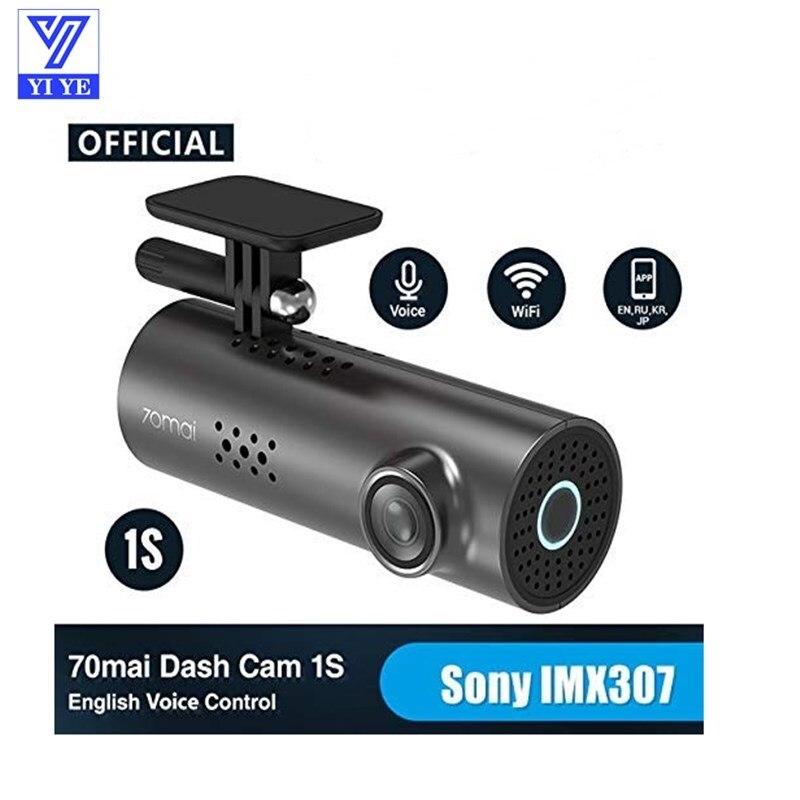 Original Xiaomi 70mai WiFi App English Voice Control 1S 1080HD Cam Night Vision 130 Degree Car Camera Auto Video Recorder