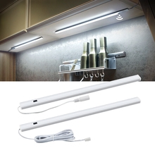 2 шт. светодиодный светильник для Кухня ручная лампа сканера со штепсельной вилкой европейского стандарта 12V ручной Сенсор переключатель светодиодный светильник жесткая бар светильник для Спальня шкаф лампы