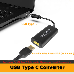 Image 3 - מחשב נייד שקע חשמל מחבר Dc מתאם מטען ממיר עבור Lenovo Hp Asus 7.4*5.0 7.9*5.5mm נקבה כדי USB סוג C מתאם זכר