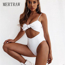 2019 New European and American Pure Color Pit Fabric Sexy Single Body swimsuit Blast Bikinis