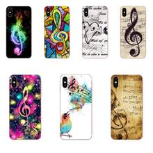Old Musical Note Music For Apple iPhone X XS Max XR 4 4S 5 5C 5S SE 6 6S 7 8 Plus Soft TPU Pattern Phone(China)
