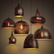 Lámpara colgante de hierro forjado, accesorio de iluminación Vintage, estilo nórdico, para Loft, restaurante, comedor, LED E27