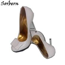 Sorbern White Women Pump High Heel Shoe Stilettos Custom Color For Every Party Shoe Staple Heels 12Cm 13Cm 14Cm 15Cm 16Cm 18Cm