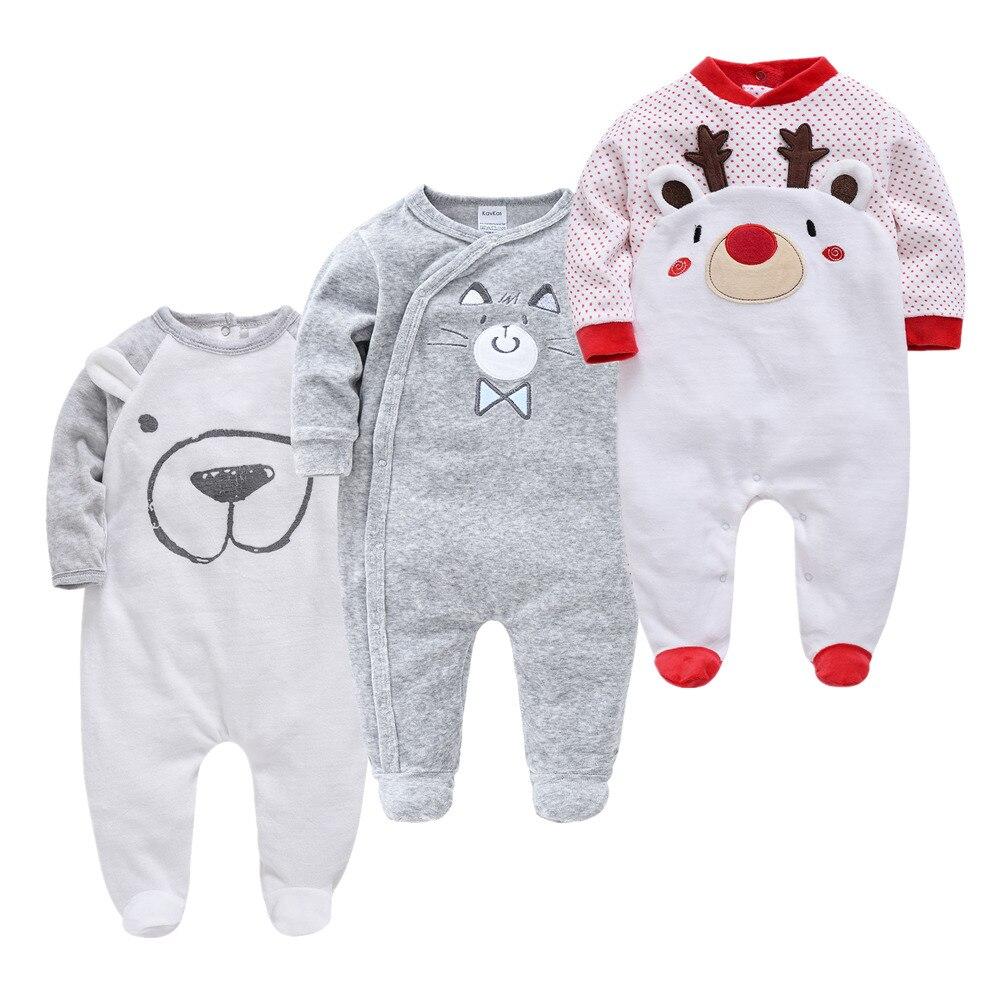 Christmas Infant Boys Pajamas Fleece Toddler Baby Warm Velvet Pyjamas Catoon Bear Sleepwear Boys Home Suit Winter Fall Spring