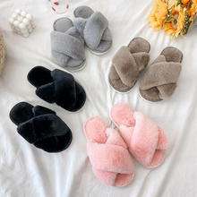 Girls Slippers Shoes Plush Winter Warm Kids