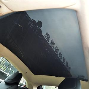 Image 2 - Für Tesla Model S Sonnenschirm Faltbare Mesh Schiebedach Sonnencreme UV Isolierung Schatten Geändert Auto Regenschirm Auto Dekoration Zubehör
