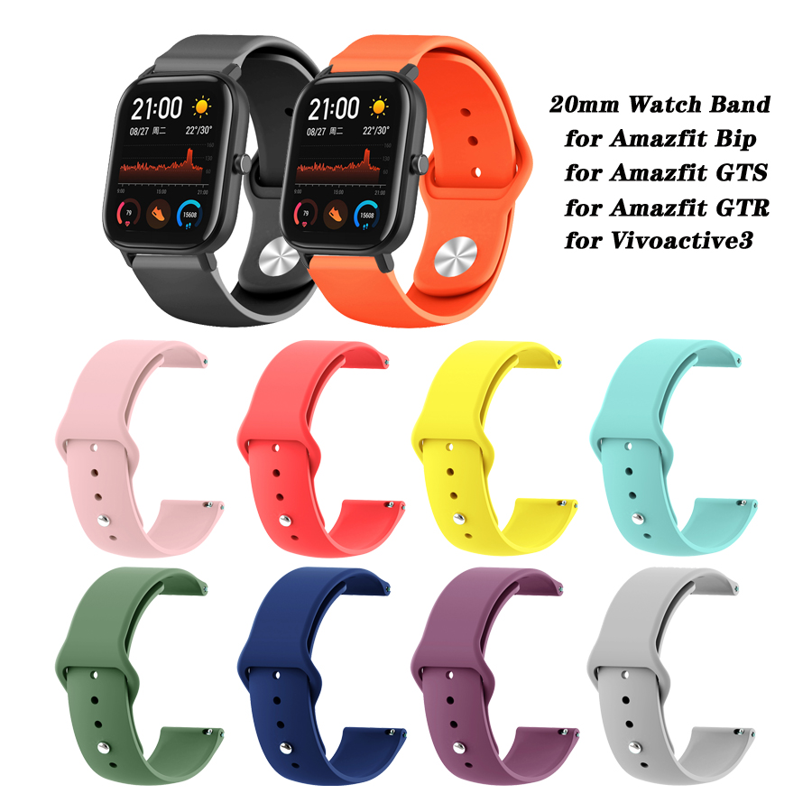 <font><b>20mm</b></font> <font><b>GTS</b></font> Band Silicone Replacement Bracelet Wrist <font><b>Strap</b></font> for Xiaomi Huami Amazfit <font><b>GTS</b></font> Smart <font><b>Watch</b></font> image
