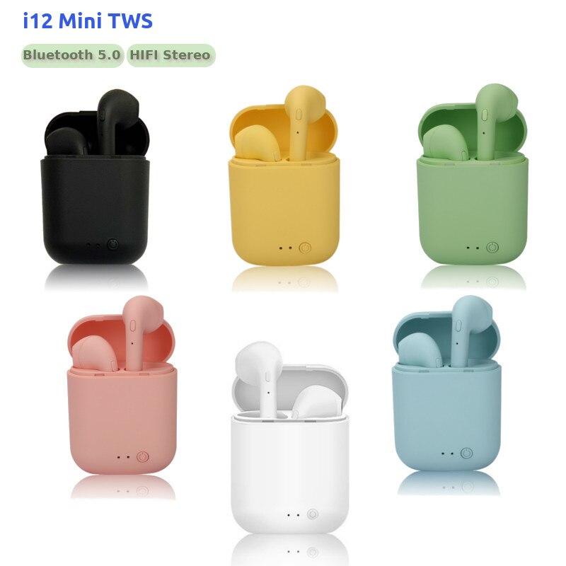 Mini Original i12 TWS Wireless Earphones Bluetooth 5 0 Earphone HIFI Stereo Headsets Wireless Earbuds pk i7s tws i9s i11 i20 i30