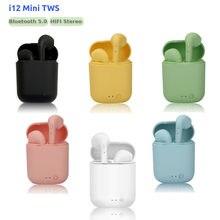 Original i12 tws fones de ouvido sem fio bluetooth 5.0 fones estéreo alta fidelidade pk i7s tws i9s i11 i15 i20 i30