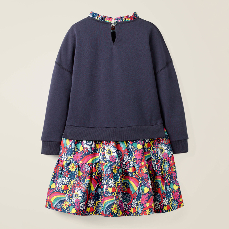 Little maven Children Elegant Dress for Girl Rainbow Sequin 6 year Girls Clothes Autumn Girls Party Dress Kids Party Dress 4