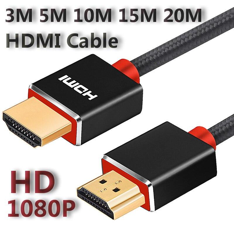 Lungfish высокоскоростной длинный HDMI кабель HD 1080p 3m 5m 10m 15m 20m позолоченный для разветвителя переключатель PS3/4 TV Box проектор компьютер