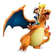Ash Ketchum con Mega Charizard Pika Lizardon Action Figure Giocattoli di Modello pkm Anime Figure Collection Giocattoli Regalo per I Bambini