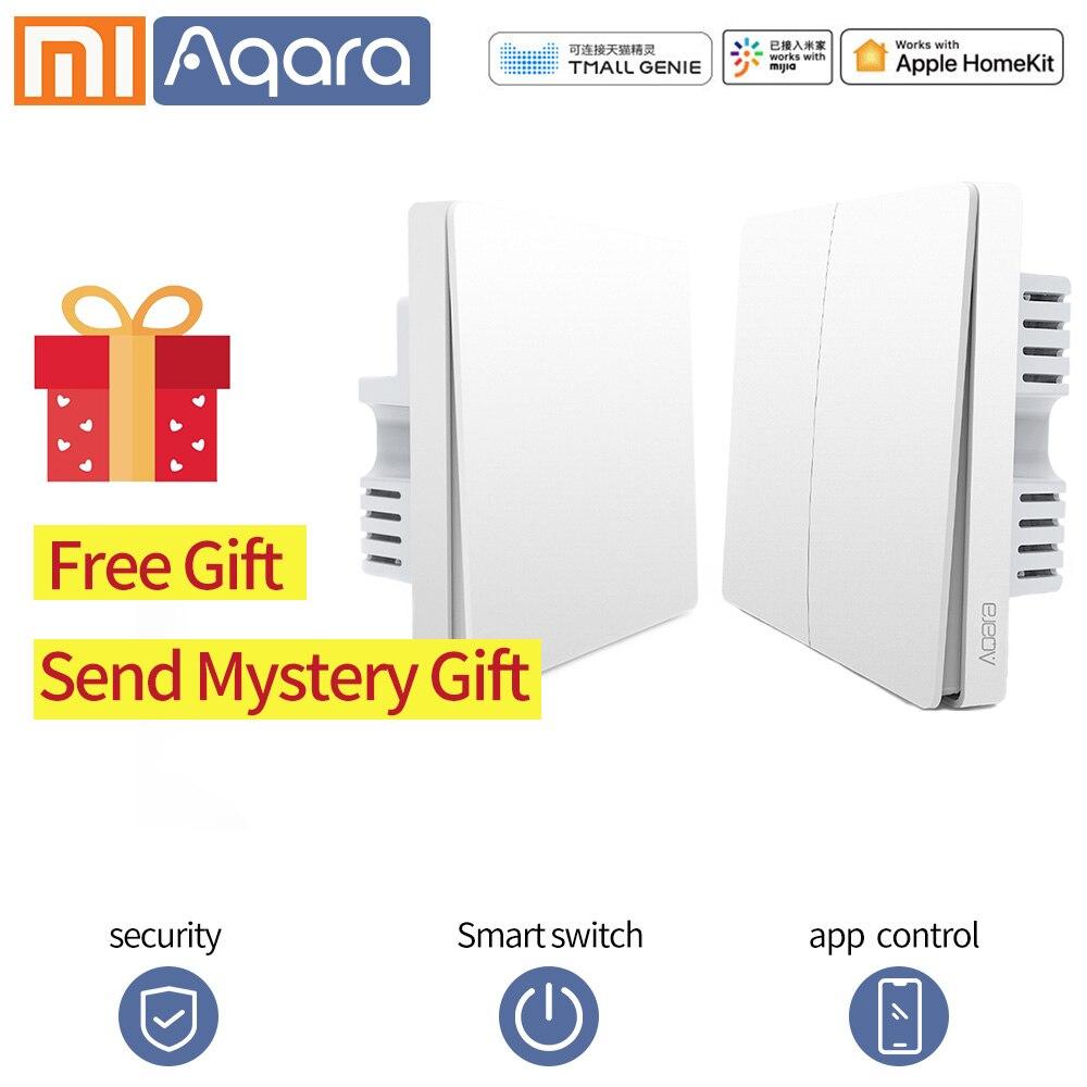 Aqara Smart Wall Light Switch WIFI Switch Zigbee APP Control Smart Switch Key Natural Wire Live Wire For Xiaomi Smart Home