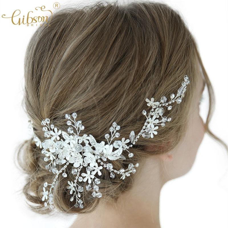 Estilo Vintage Diamante Floral Marfil Perla De Novia Boda Tiara Diadema lateral