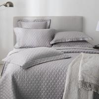 100% Cotton Quilted Bedspread Grey 3/5 Pieces Solid Color Chic Stitched Bed spread Quilted Coverlet Bed Cover Queen King size