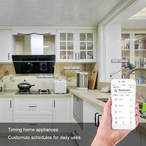 Image 4 - Tomada inteligente wi fi tomada inteligente tuya vida inteligente app ue plug telefone cronometragem interruptor de tomada controle remoto alexa google casa mini ifttt