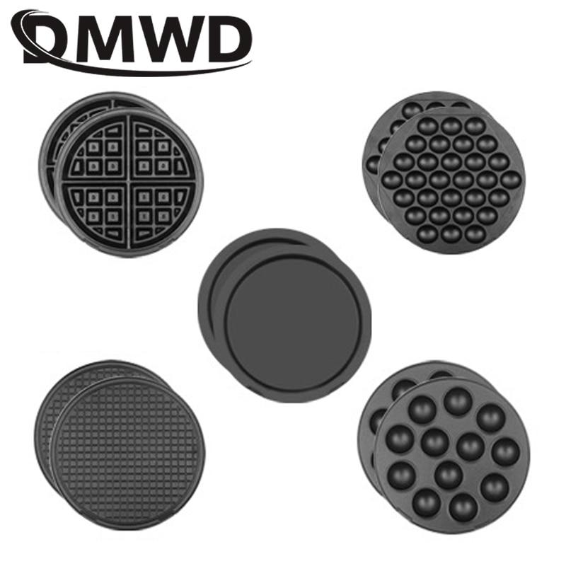 DMWD Multifunction Waffle Maker Baking Tray Doughnut Ice Cream Cone Small Balls Cupcake Pizza Pan 9 Plates Optional