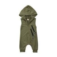 Cute Newborn Baby Boys Girls Camo Hooded Romper Jumpsuit Playsuit Cloth