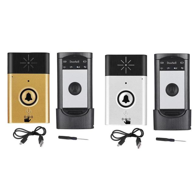 ワイヤレス音声インターホン室外機ボタン室内ユニットと受信機 2 ウェイトークスマートホームセキュリティドアベル
