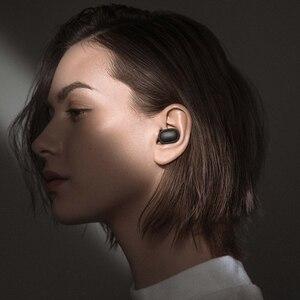 Image 4 - מהיר חינם Xiaomi Redmi Airdots TWS אלחוטי Bluetooth 5.0 אוזניות סטריאו בס עם מיקרופון דיבורית שליטת AI