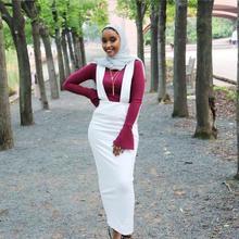 Skirt Waist-Islamic-Skirt Muslim Fashion Wq907 Strap Empire Floor Elegant Middle-East-Long