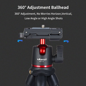 Image 5 - Ulanzi MT 11 Portable Octopus Tripod 2 in 1 Foldable Phone Clip Magic Arm Quick Release Plate With Cold Shoe Mount Clamp Holder